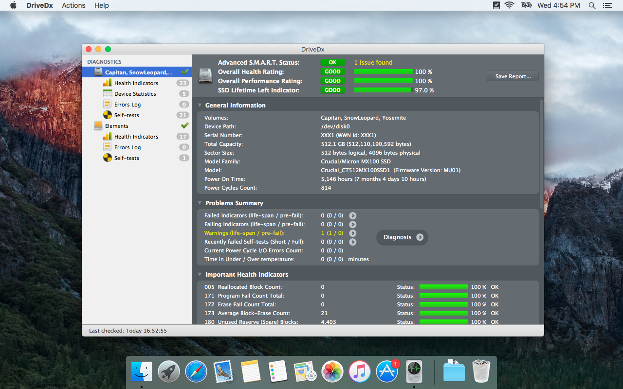 DriveDx 1.5.1 for Mac - Save yourself from Data Loss and Downtime Image